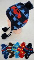 Baby Fleece-Lined Knit Cap with Ear Flap [Cars]
